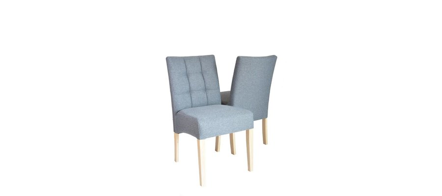 Krzesło Barcelona bez podłokietnika, tkanina Board 68 Dark Grey - zdjęcie