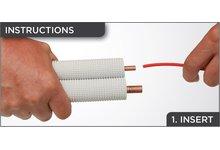 """Wkład 3/4"""" pręt do gięcia rur miedzianych oraz aluminiowych, do wyginania LINE SET BENDER - zdjęcie"""
