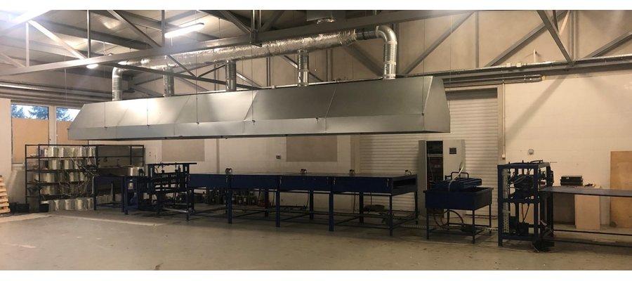 Maszyna do produkcji siatki kompozytowej - zdjęcie