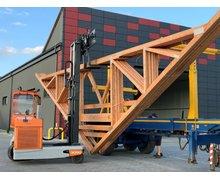 Wiązary, prefabrykowane konstrukcje dachowe, dźwigary, więźba, kratownice - zdjęcie