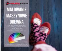 MALOWANIE MASZYNOWE DREWNA - zdjęcie