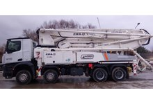 Wynajem pompy do betonu - Mobilna pompa do betonu CIFA K42L (125mm, 41.1m) - zdjęcie