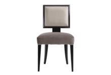 Krzesło tapicerowane szare - zdjęcie