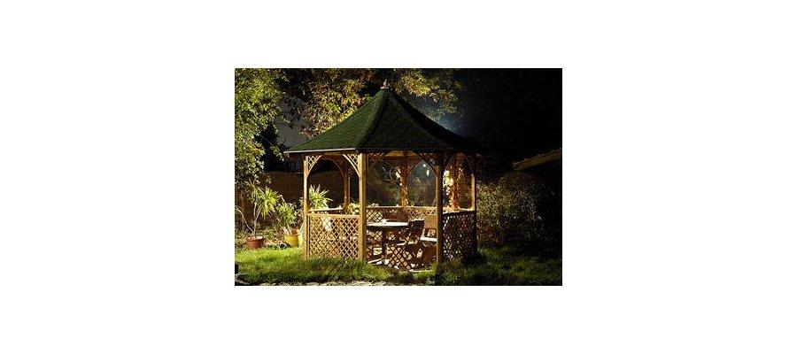 Drewniana altana ośmiokątna Chopin (pergola, domek, ogród, Jagram) - zdjęcie