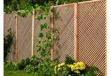 Drewniana kratka ogrodowa Clementine (pergola, płot, ogrodzenie, Jagram) - zdjęcie