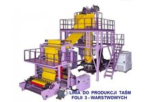 Linie do produkcji folii HDPE, LDPE, LLDPE,MDPE, PP, PCV, TPU,... - zdjęcie