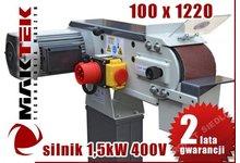 PROMOCJA SZLIFIERKA TAŚMOWA MAKTEK 100X1220 1,5 kW - zdjęcie