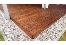 Drewniana deska tarasowa - Modrzew Syberyjski - zdjęcie