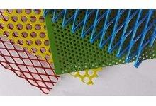 Blacha dekorcyjna perforowana oczko 3mm 0,75 1000 x 1000 malowana - zdjęcie