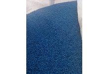 Regranulat HDPE niebieski. - zdjęcie