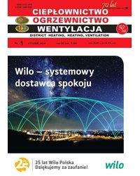 Ciepłownictwo Ogrzewnictwo Wentylacja 1/49/2018 - okładka