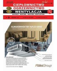 Ciepłownictwo Ogrzewnictwo Wentylacja 9/50/2019 - okładka