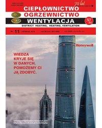 Ciepłownictwo Ogrzewnictwo Wentylacja 11/50/2019 - okładka