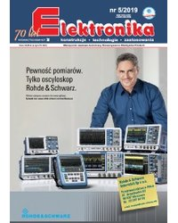 Elektronika - konstrukcje, technologie, zastosowania 5/2019 - okładka