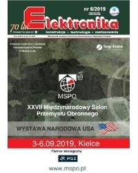 Elektronika - konstrukcje, technologie, zastosowania 6/2019 - okładka