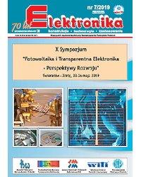 Elektronika - konstrukcje, technologie, zastosowania 7/2019 - okładka