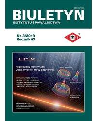 Biuletyn Instytutu Spawalnictwa 3/2019 - okładka
