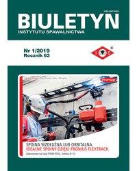 Biuletyn Instytutu Spawalnictwa 1/2019 - okładka