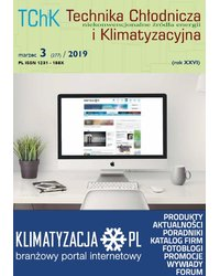 Technika Chłodnicza i Klimatyzacyjna 3/2019 - okładka