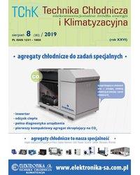 Technika Chłodnicza i Klimatyzacyjna 8/2019 - okładka