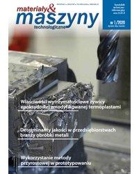 Materiały i Maszyny Technologiczne 1/2020 - okładka
