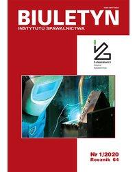 Biuletyn Instytutu Spawalnictwa 1/2020 - okładka