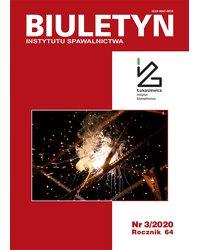Biuletyn Instytutu Spawalnictwa 3/2020 - okładka