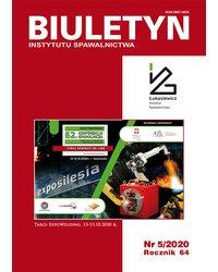 Biuletyn Instytutu Spawalnictwa 5/2020 - okładka