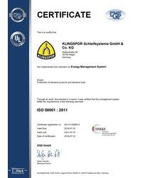 Certyfikat ISO 50001 - zdjęcie