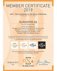 Certyfikat oSa 2019 - zdjęcie