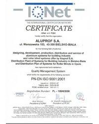 CERTIFICATE IQNet and PCBC - zdjęcie