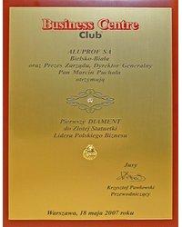 Pierwszy Diament do Złotej Statuetki Lidera Polskiego Biznesu - zdjęcie