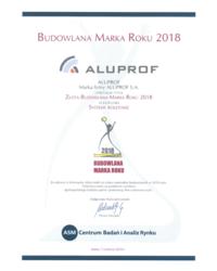 Złota Budowlana Marka Roku 2018 w kategorii Systemy roletowe - zdjęcie
