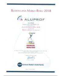 Złoty Champion Roku 2018 w kategorii Profile okienne aluminiowe - zdjęcie