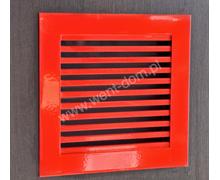 Kratka wentylacyjna nierdzewna czerwona - zdjęcie