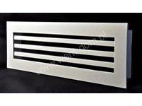 Kratka wentylacyjna nierdzewna biała - zdjęcie