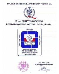 Znak Certyfikowanego Zintegrowanego Systemu Zarządzania - zdjęcie