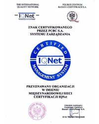 Znak Certyfikowanego przez PCBC S.A. Systemu Zarzadzania - zdjęcie