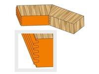 Frez profilowy HS/HW do połączeń elementów łuku dla okien/drzwi - zdjęcie