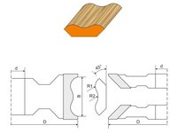 Zestaw frezów HS/HW do produkcji listew przypodłogowych - zdjęcie