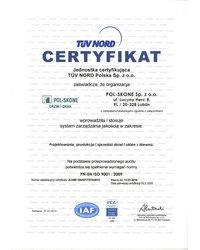 Certyfikat TÜV PCA - zdjęcie