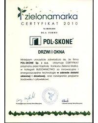 Certyfikat Zielona Marka - zdjęcie