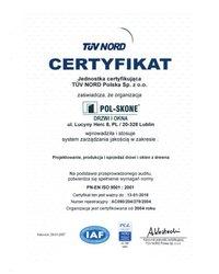 Certyfikat PN-EN ISO 9001:2001 - zdjęcie