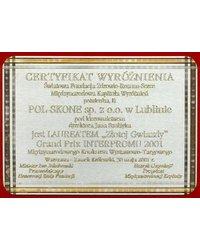 Certyfikat Wyróżnienia - zdjęcie