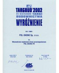 TARGBUD 2002 - Wyróżnienie - zdjęcie