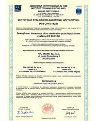 Certyfikat stałości właściwości użytkowych Nr 1488-CPR-0743/W - zdjęcie