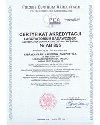 Akredytacja dla Laboratorium Kontroli Jakości FFiL Śnieżka - zdjęcie