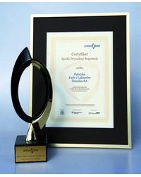 Certyfikat Spółki Wysokiej Reputacji 2010 - zdjęcie