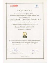 Certyfikat Perła Polskiej Gospodarki 2009 - zdjęcie