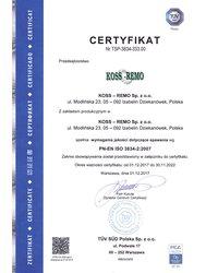 Certyfikat PN-EN ISO 3834-2:2007 - zdjęcie